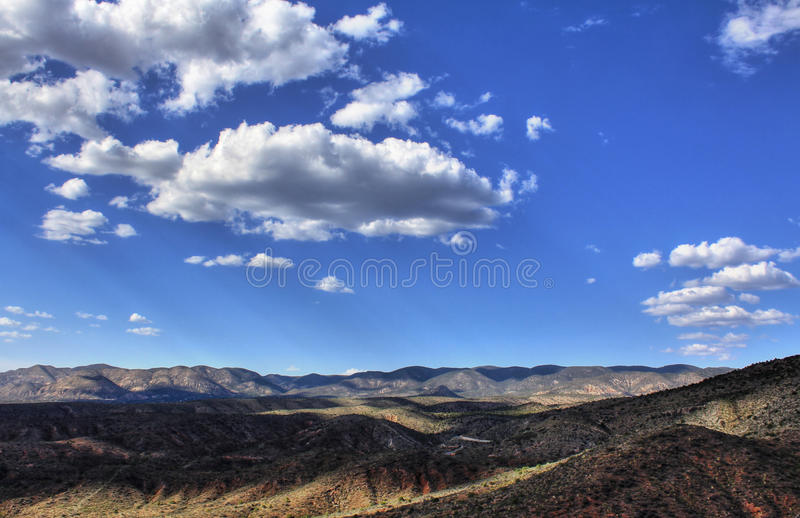 Sacramento Mountains. Near Alamogordo New Mexico royalty free stock images