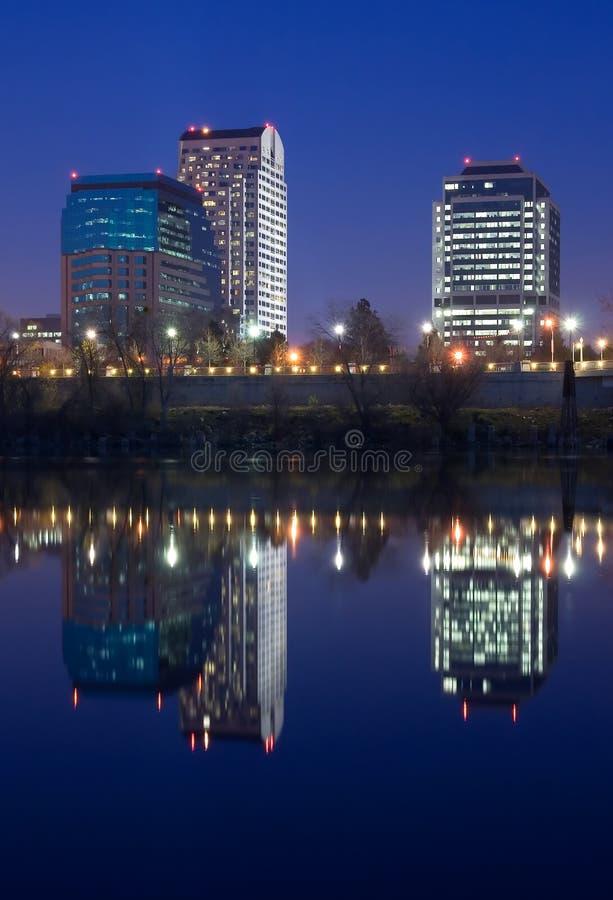 Sacramento na noite fotos de stock royalty free