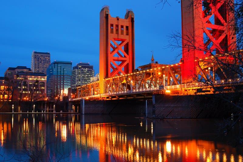 Sacramento och tornbron fotografering för bildbyråer