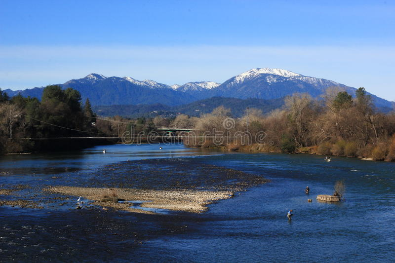 Sacramento River Ansicht in Redding Kalifornien stockfoto