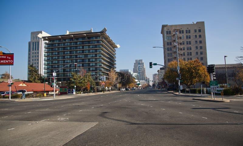 Sacramento Skyline royalty free stock photos