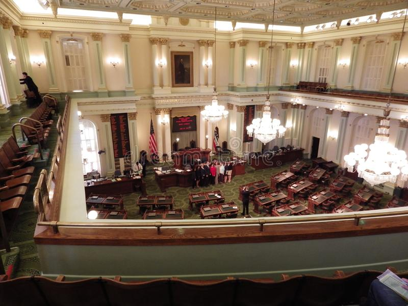 Sacramento, Staatssenat stockfotos