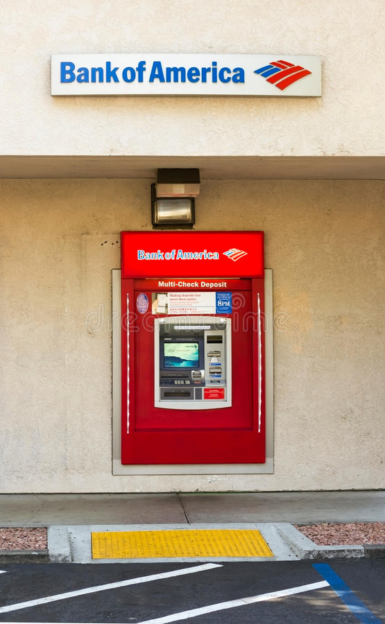 Bank Of America ATM Banking Machine Editorial Photo - Image