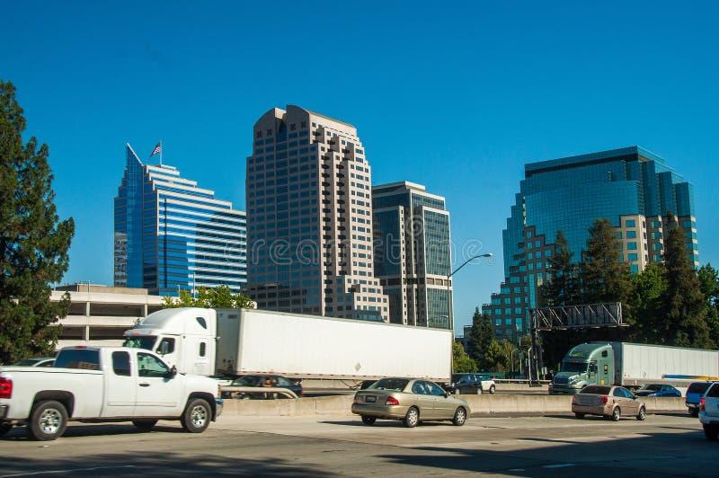 Sacramento-Wege, Kalifornien-Schüsse, USA lizenzfreie stockfotos