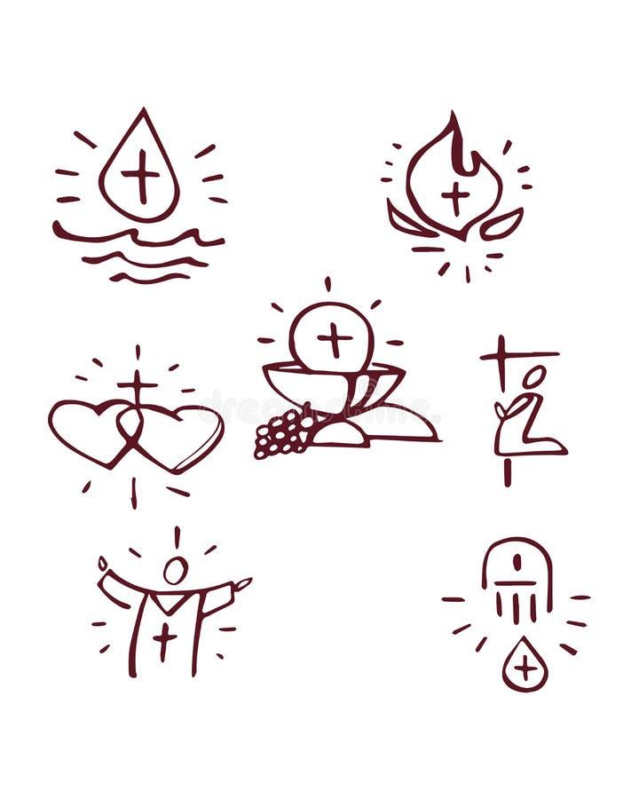sacraments ilustração royalty free