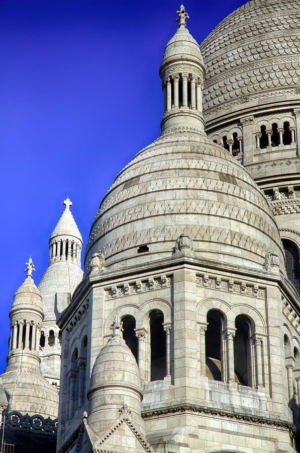 Sacre蒙马特Coeur的大教堂在巴黎 库存图片