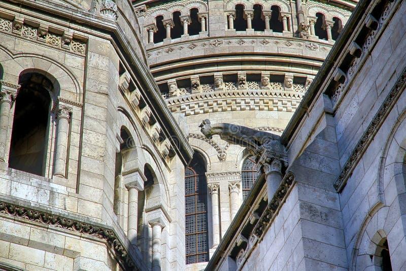 Sacre蒙马特Coeur的大教堂在巴黎 库存照片