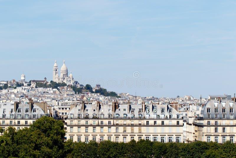 "Sacre CÅ的大教堂""ur,巴黎,法国 图库摄影"