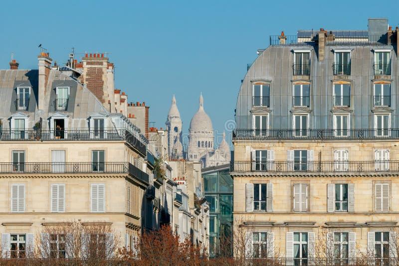 巴黎 Sacre coeur大教堂 免版税库存照片