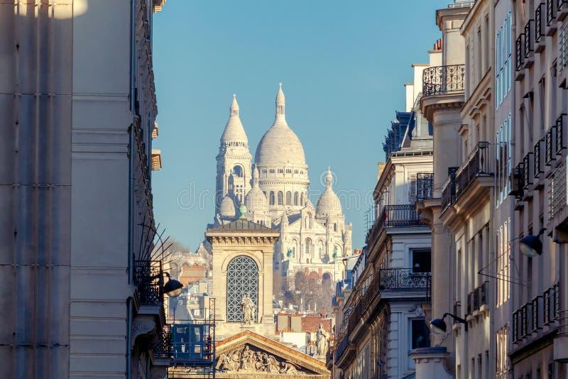 巴黎 Sacre coeur大教堂 库存图片