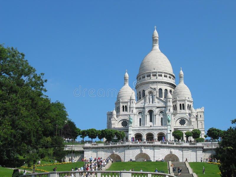 sacre coeur базилики стоковые изображения rf