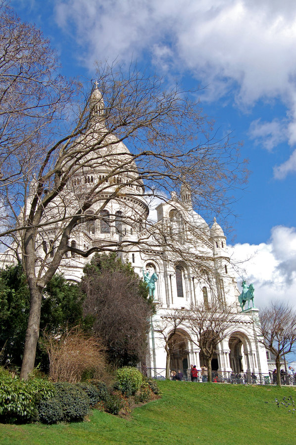 Sacre coeur Basilica - Paris royalty free stock photography