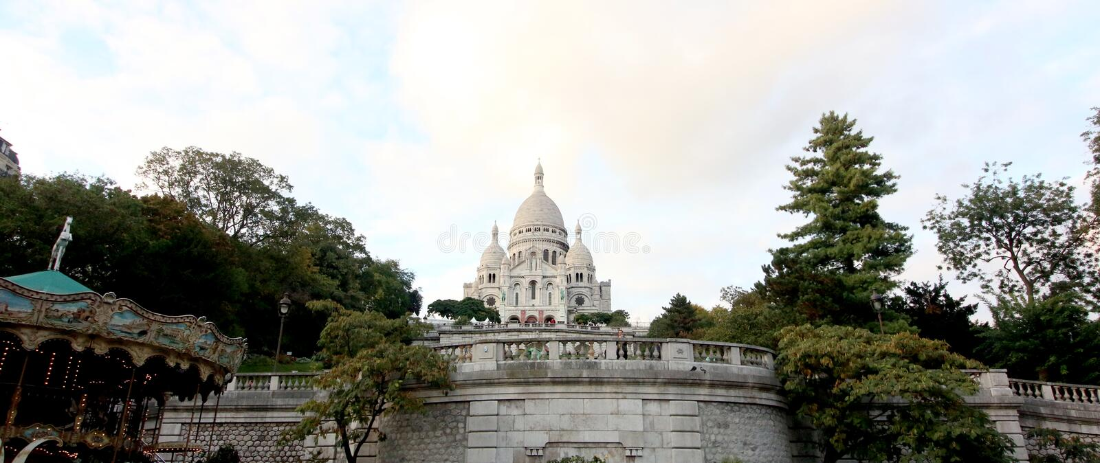 Sacre Coeur Basilica, Paris, France stock photo