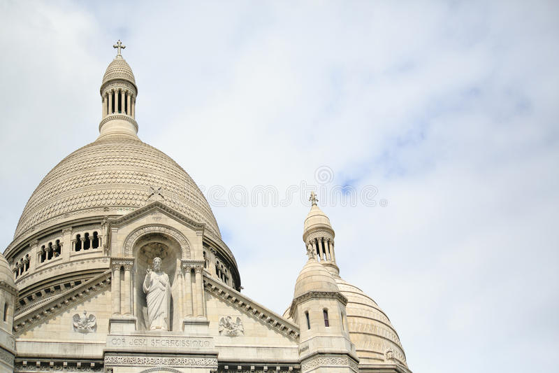 Sacre Coeur basilica. Basilica of the Sacred Heart, Montmartre, Paris royalty free stock photos
