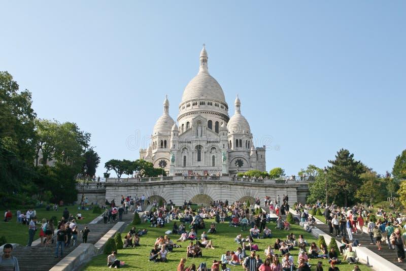 Sacre-coeur Basilika stockbild