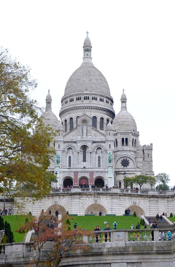Sacre Coeur Basilika, Paris stockfoto