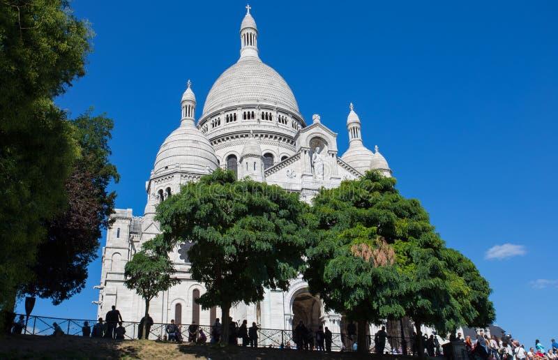 Sacre-Coeur Basilique in Montmartre Parijs, Frankrijk royalty-vrije stock afbeelding