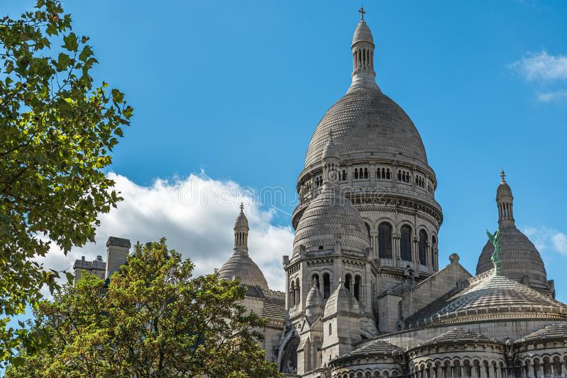 Sacre Coeur Basilique on Montmartre, Paris, France royalty free stock images