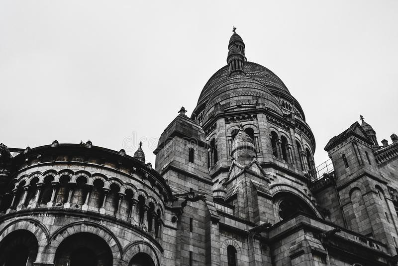 Sacre Coeur/Basilique ur Париж Франция Sacré CÅ « стоковое фото