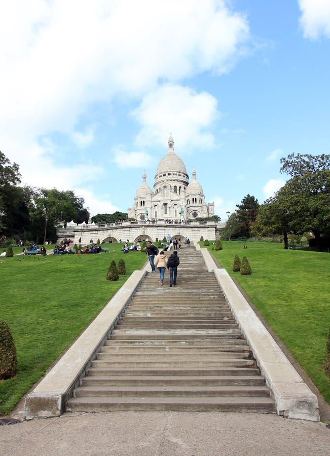 Sacre Coeur bazylika, Paryż, Francja zdjęcia royalty free
