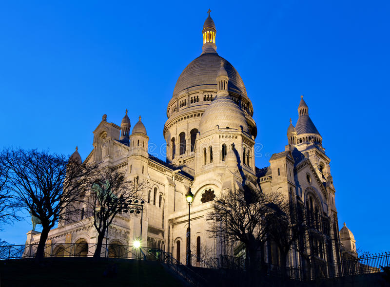 Download Sacre Coeur During The Blue Hour Stock Photo - Image: 24094548