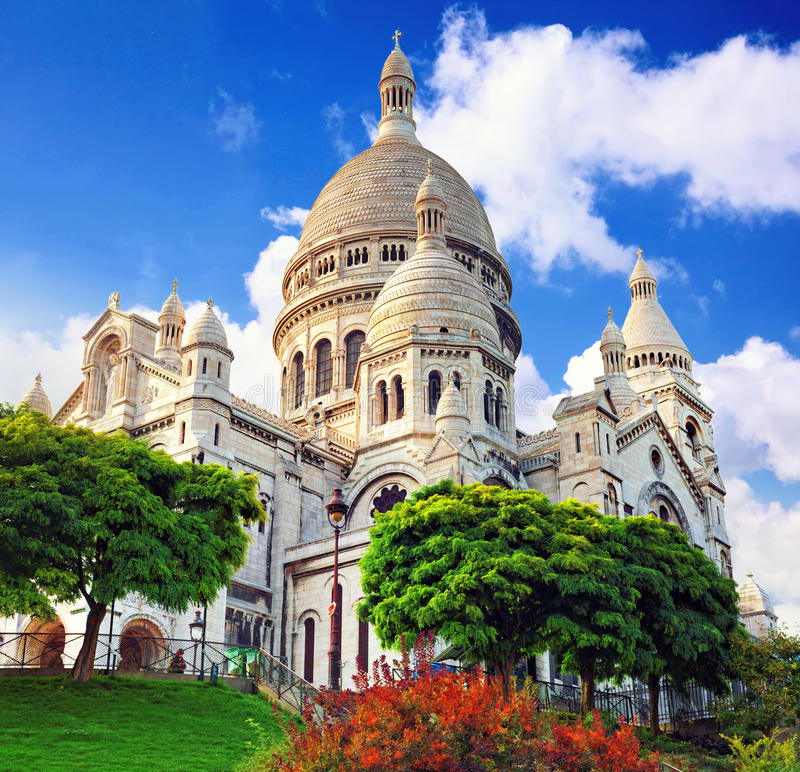 Free Sacre Coeur Cathedral On Montmartre , Paris Stock Photography - 34074692
