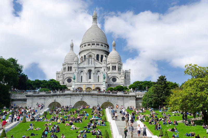 Download Sacre Coeur church editorial photography. Image of europe - 25315592