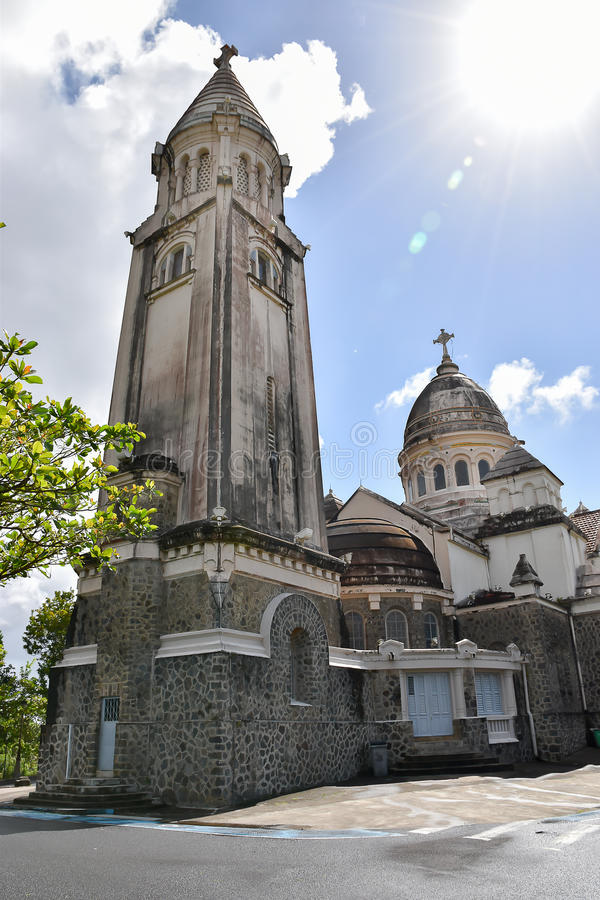 Sacre Coeur de Balata, Martinique, Fort-de-France. stock photos