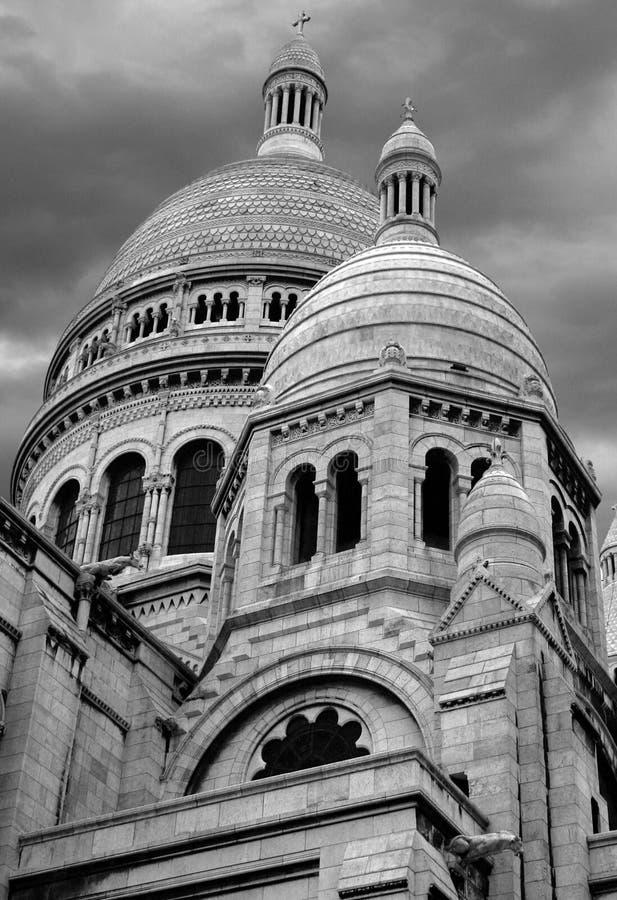Sacre Coeur Domes stock image