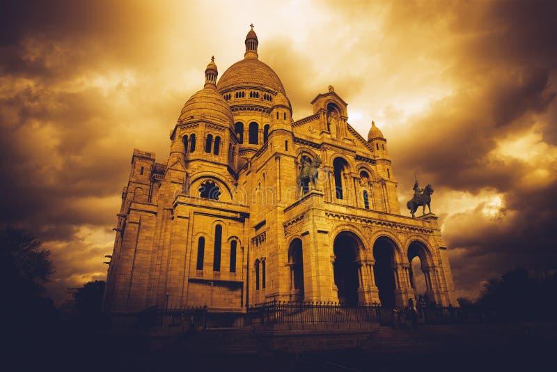 Sacre Coeur em Paris imagens de stock