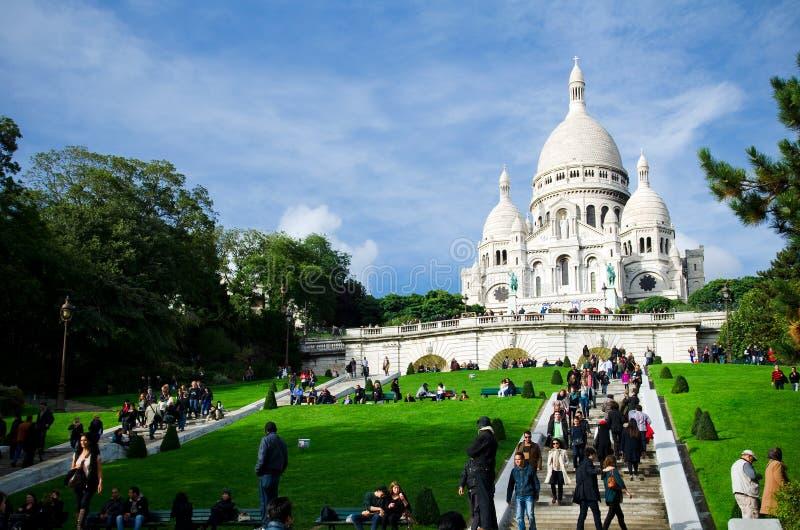 Sacre Coeur i Montmartre, Paris arkivbild