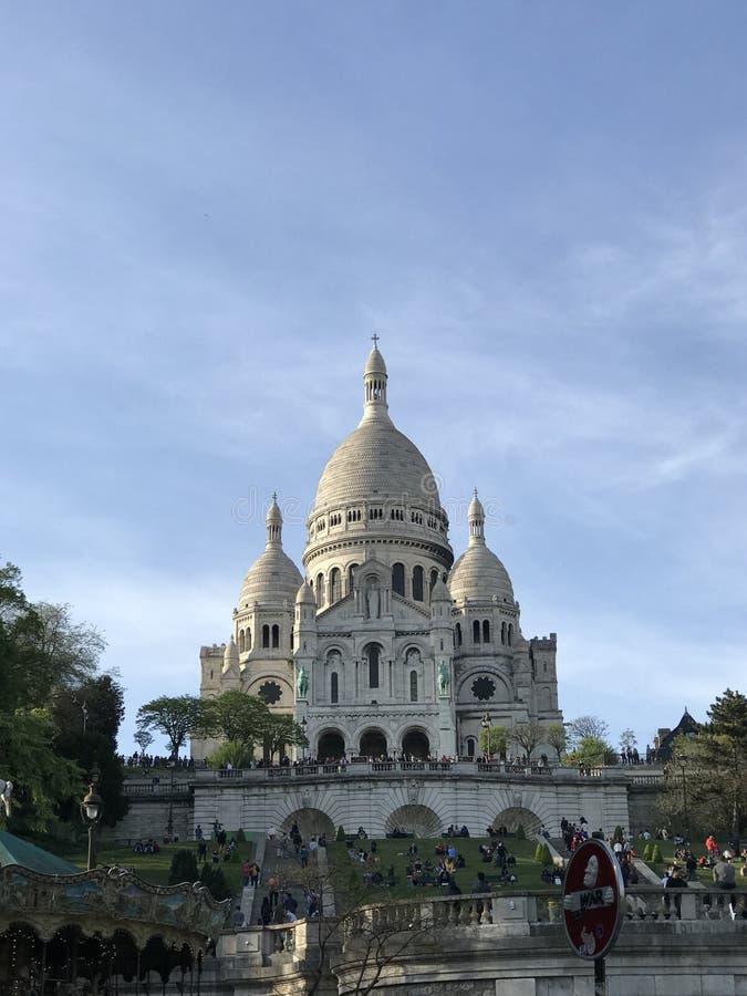 Sacre-Coeur i Montmartre, Paris, Frankrike arkivbild