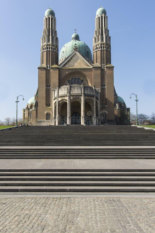 Sacre Coeur katedra w Bruksela zdjęcie royalty free