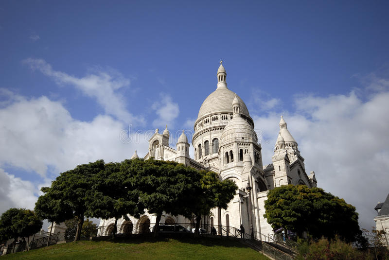 Sacre-Coeur on Montmartre stock photo
