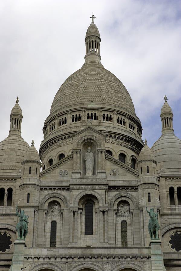 Sacre-coeur, montmartre, Parigi, Francia immagini stock libere da diritti