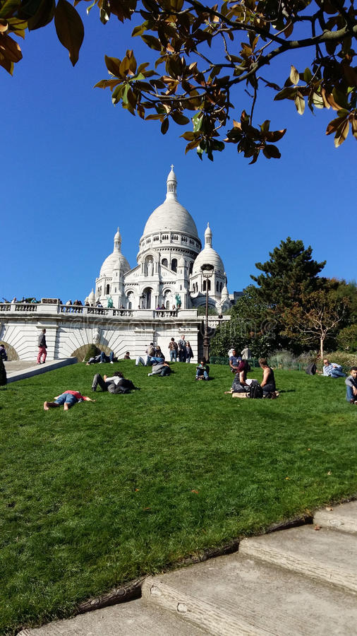 Sacre-Coeur in Montmartre, Paris stockbilder
