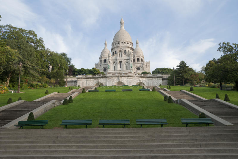 Sacre coeur a Montmartre, Paris, France royalty free stock photography
