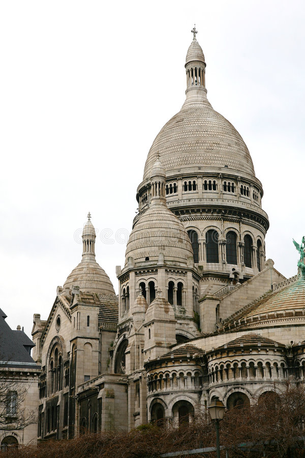 Sacre Coeur, Parijs royalty-vrije stock foto's