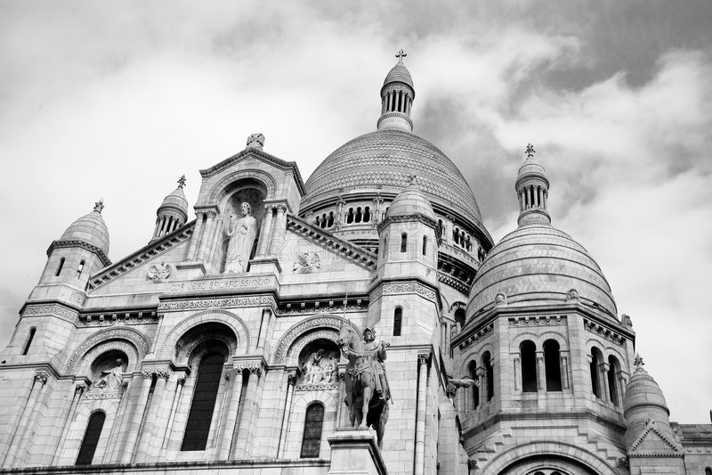 Sacre Coeur, Parijs stock foto's
