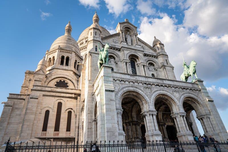Sacre Coeur in Parijs, Frankrijk royalty-vrije stock afbeelding