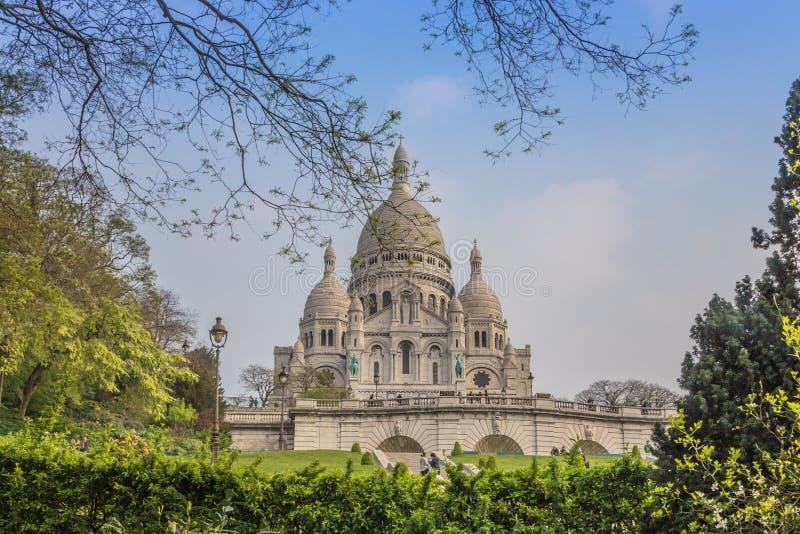 Sacre Coeur Parijs Frankrijk royalty-vrije stock afbeelding