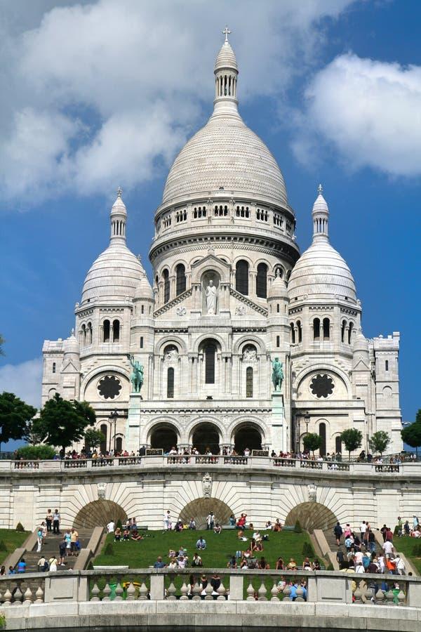 Sacre-Coeur in Paris stockbild