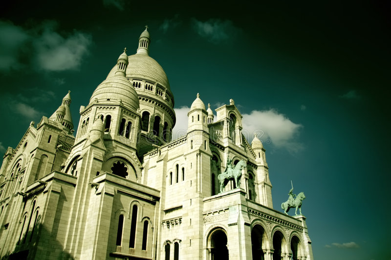The Sacre-Coeur in Paris stock image