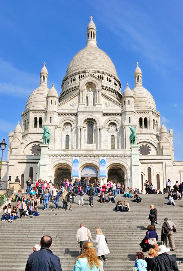 Sacre Coeur in Paris, France royalty free stock image