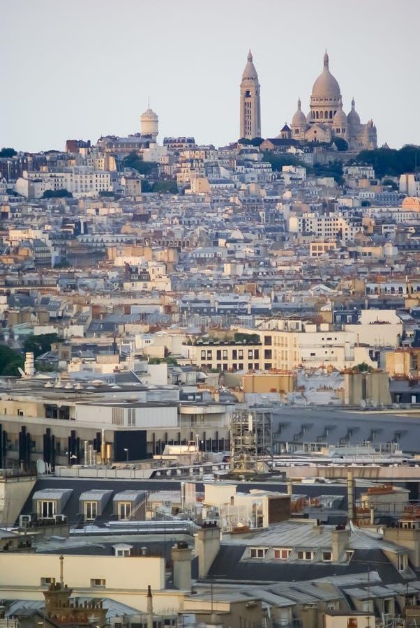 Sacre Coeur su Montmartre immagini stock