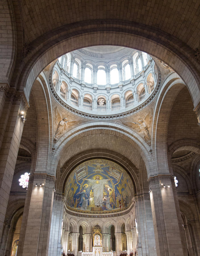 Sacre Coeur wnętrze obraz stock
