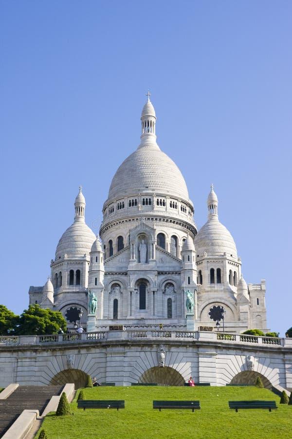 Sacre Couer basilika i Paris royaltyfria bilder