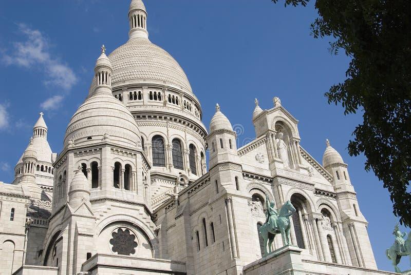 sacre paris montmartre coeur стоковые изображения rf
