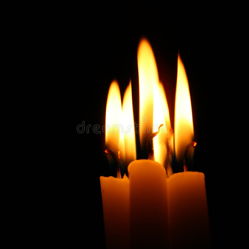 Sacred candles royalty free stock photography