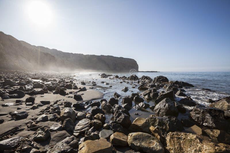 Sacred Cove at Abalone Cove Shoreline Park near Los Angeles Cali royalty free stock photos